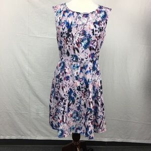 J.Crew Lavender Watercolor Floral Print Dress